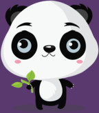 Panda likes bamboo sticks