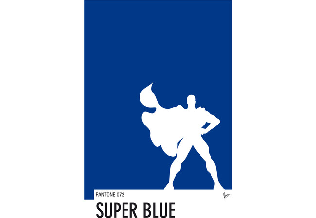 My Superhero 03 Super Blue Minimal Pantone po  Artwork