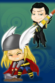 Mischievous: Loki and Thor