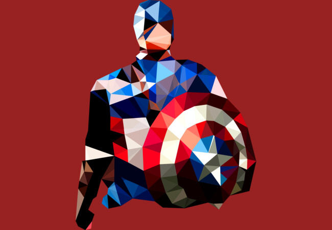 Polygon Heroes - Captain America  Artwork