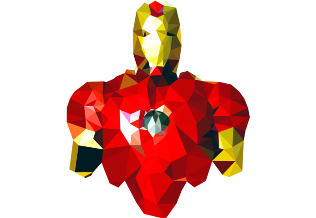 Polygon Heroes Iron Man  Artwork
