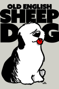 Old English Sheep Dog cartoon