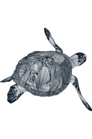 Sea Turtle (Black)