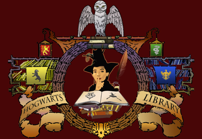 Hogwarts Library  Artwork
