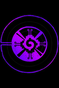 Good Vibes Abstract Symbol Neon Geometry