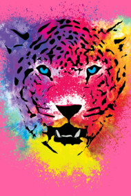 Pop Tiger - Colorful Paint Splatters