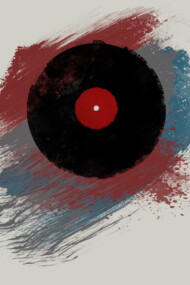 Vinyl Record Grunge Retro Paint Urban Style - Music DJ Art