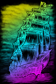 Caleuche Ghost Pirate Ship - Color