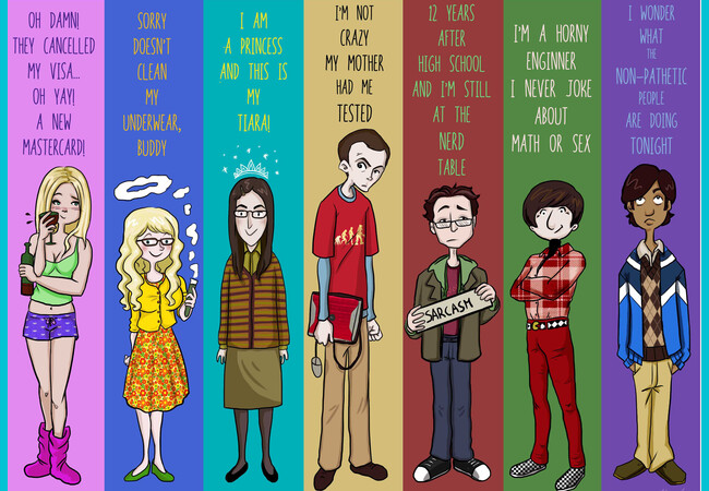 The Big Bang Theory Family  Artwork