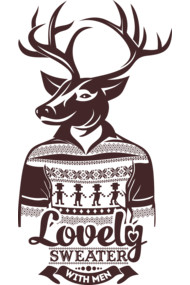 Deer lovely sweater with men
