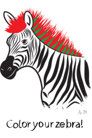 Color your zebra!