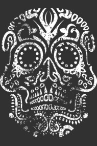 Day of the Dead Skull (Distressed)