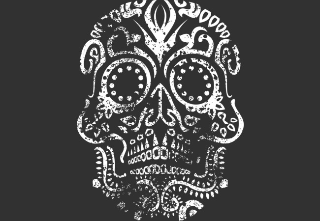 Day of the Dead Skull (Distressed)  Artwork