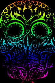 Super Heavy Distressed Spectrum Skull