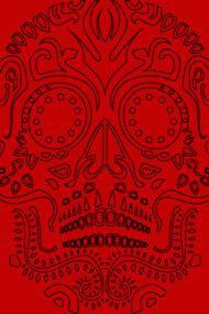 Minamalist Day of the Dead Skull