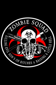 Biohazard Zombie Squad Fuck U Ring Patch outlined