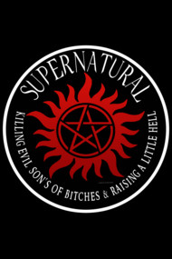 Supernatural  protection Symbal Ring Patch 03