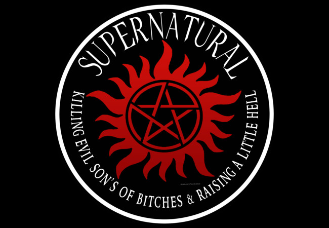 Supernatural  protection Symbal Ring Patch 03  Artwork