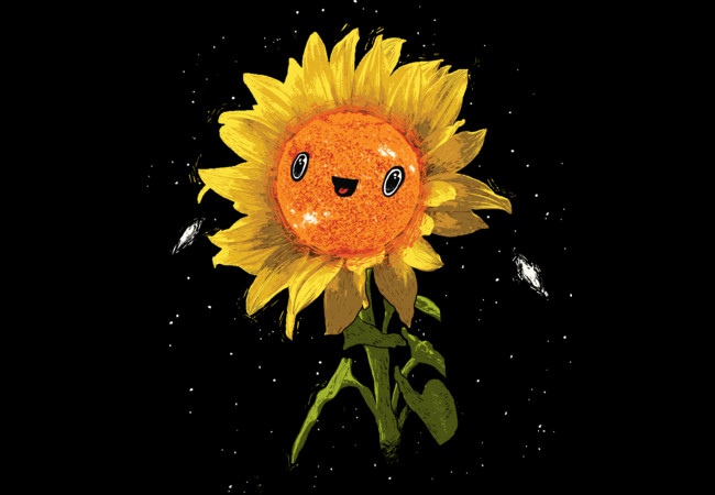 Sunflower In Space  Artwork