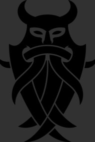 Odin's Mask Tribal (black)