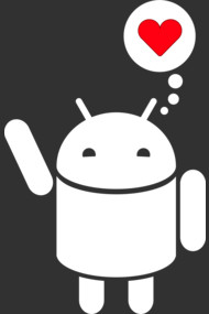 Droid in Love (white)