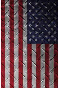 USA flag - Metal Structure