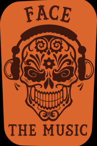 Face The Music Candy Skull DJ