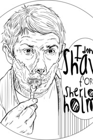 Shave for Sherlock (line art)