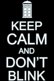 Keep calm and don't blink (light)