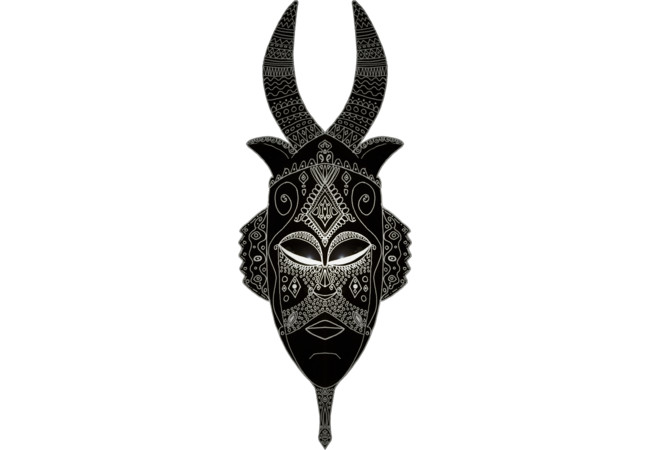 Horned Tribal Mask  Artwork