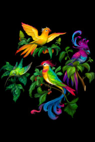 Beautiful birdies print pattern
