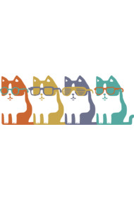 Colorful Cats In Glasses