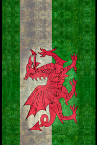 Distressed Wales flag