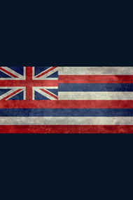 Vintage retro Hawaii state flag