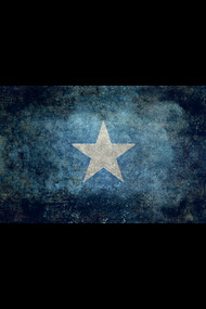 Flag of Somalia in vintage retro style