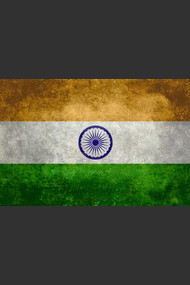 Flag of India, vintage retro style