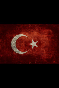 Flag of Turkey, vintage retro style