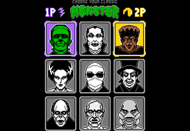 8 Bit Monsters  Artwork