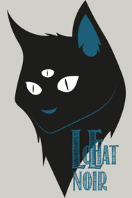 Le chat noire three eyed cat