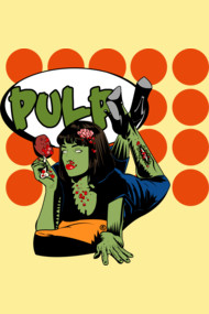 Zombie Pop Art Pin Up