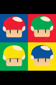 Mushroom Pop-art Apparel