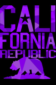 California Republic Bear (juicy purple version)