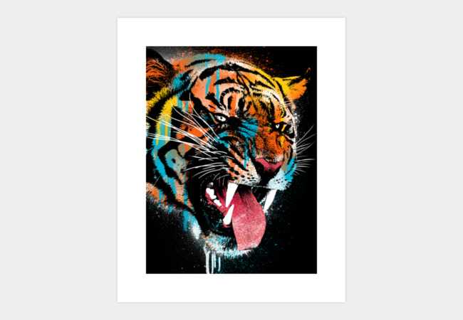 Ferocious Tiger Art Print - Design By Humans