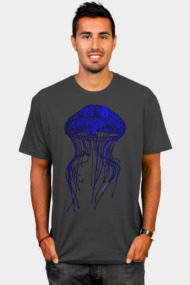 JELLYFISH ILLUSTRATION - BLUE