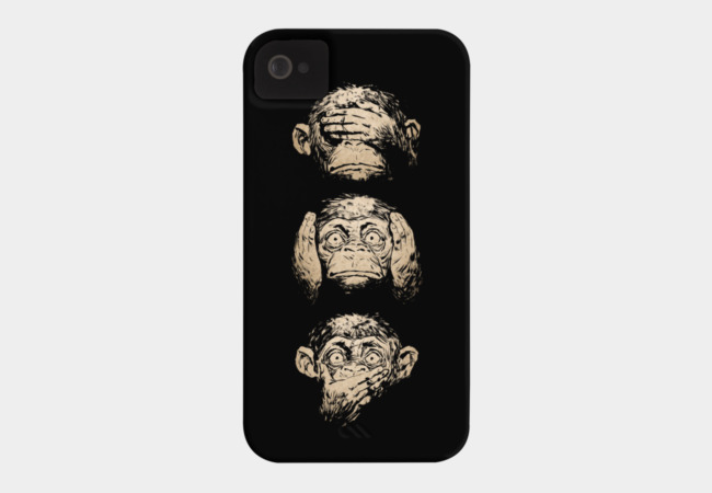 3 wise monkeys Phone Case - Design By Humans
