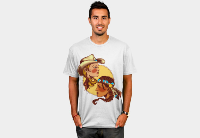 Cowgirl & Indian Princess T-Shirt - Design By Humans