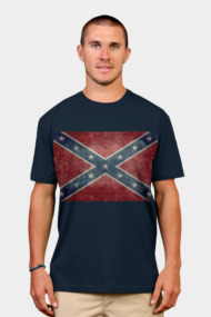 Confederate flag - retro vintage version