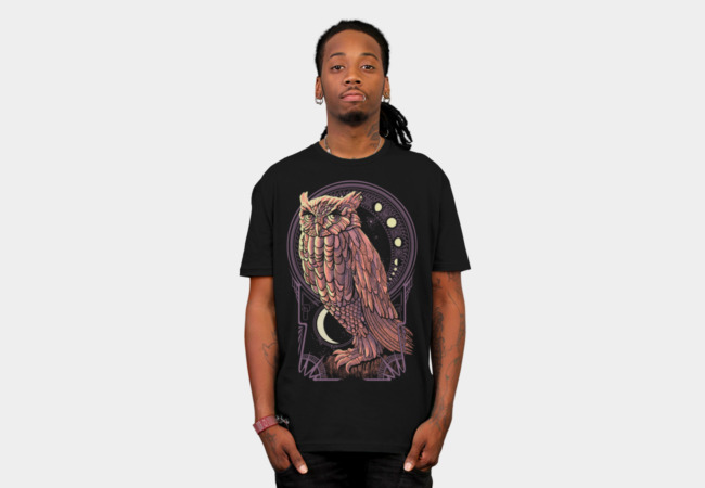 Owl Nouveau T-Shirt - Design By Humans
