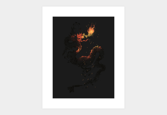 The Dragon Tattoo Art Print - Design By Humans