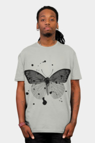 Black Splatter Butterfly
